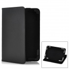 "Stylish Protective PU Leather Stand Case for 7"" Tablet PC - Black"