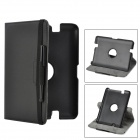 "Protective 360 ​​Grad drehbaren PU Leather Case w / Stylus Pen für Amazon Kindle Fire HD 7 ""- Schwarz"