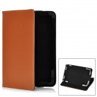 "Stylish Protective PU Leather Stand Case for 7"" Tablet PC - Brown"