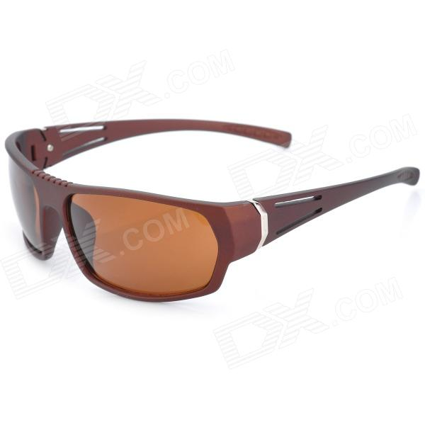 BaoLiNa 5035 Sports Riding Windproof UV400 Protection Goggles Sunglasses - Brown retro women sunglasses polarized driving sun glasses with pc metal hinge shades uv400 protection gafas de sol mujer 4 colors