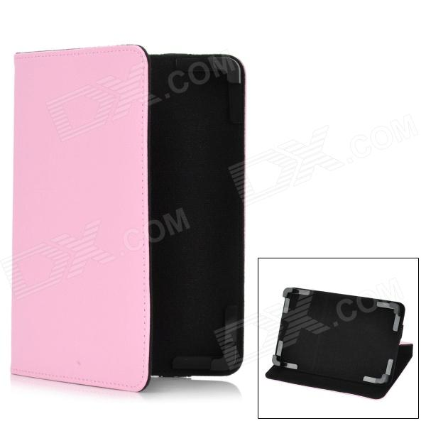 Stylish Protective PU Leather Stand Case for 7 Tablet PC - Pink protective pu leather case for 9 7 tablet pc deep pink