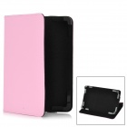 "Stylish Protective PU Leather Stand Case for 7"" Tablet PC - Pink"