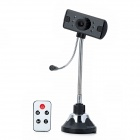 USB Rechargeable 2.0MP CMOS Mobile Detection Loop Recording Webcam - Black + Silver