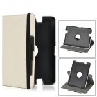360 Degree Rotational Plastic + PU Leather Stand Case w/ Stylus Pen for Amazon Kindle Fire HD 7