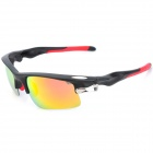 KaShiLuo 9158 Sports Riding Windproof UV400 Protection Polarized Sunglasses - Black + Red