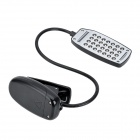USB-28 USB Powered 28-LED Lámpara de escritorio flexión w / Clip - Negro