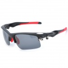 KaShiLuo 9158 Sport Reiten Windproof UV400 Schutz Polarized Sunglasses - Black + Red