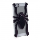 3D Electroplating Spider Style Protective Plastic Back Case for Iphone 5 - Black