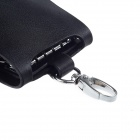 Beidi Erke BK1-1015 Genuine Leather Dual Snap Fastener Car Key Cover Case - Black