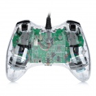 USB Wired Dual-Shock Game Controller JoyStick for Xbox360 / Xbox360 Slim - Transparent (280cm-Cable)