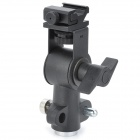 "FLH-K 1/4 ""3/8"" Hot Shoe Mount Speedlite / Flash Lamp Socket / Halterung / Holder - Schwarz"