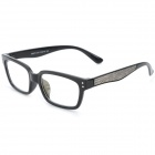 SENLAN M6275 Radiation Protection Resin Lens Decoration / Computer Glasses - Black + Brown