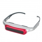 "EVG920V Rechargeable 80"" Virtual Screen Video Player Glasses - Red + Silvery Grey + Dark Grey"