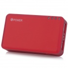EPOWER EP-5000 Portable Dual USB 5000mAh External Battery Charger w/ LED Torch - Wine Red