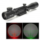 3~9X Magnification Red / Green Rangefinder Reticle Riflescope w/ Rail Mount - Black (1 x CR2032)