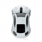 1907 Car Style USB 2.0 Wireless Optical 1600dpi Mouse - White + Black (1 x AAA)