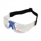 Panlees JH828 Sport Football Basketball UV400 Protection Folding Glasses - Translucent + Blue