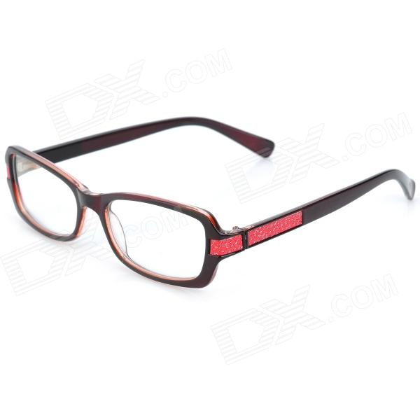 купить SENLAN M6271 Retro Anti-Radiation Resin Lens Sunglasses - Black + Red + Dark Brown дешево