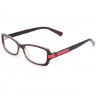 SENLAN M6271 Retro Anti-Radiation Resin Lens Sunglasses - Black + Red + Dark Brown