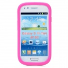Protective Aluminum + Silicone Back Case for Samsung Galaxy S3 Mini i8190 - Deep Pink