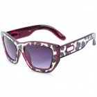 SENLAN 6081 Retro UV400 Protection PC Lens Sunglasses - Purple + Leopard Pattern