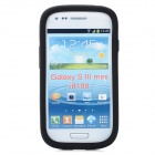 Protective Aluminum + Silicone Back Case for Samsung Galaxy S3 Mini i8190 - Grey