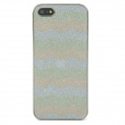 Protective Wave Pattern Shining Back Case for iPhone 5 - Silver + Light Green