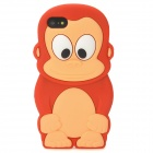 Cute 3D Monkey Style Protective Silicone Case for Iphone 5 - Red