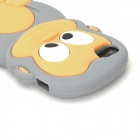 Cute 3D Monkey Style Protective Silicone Case for Iphone 5 - Grey