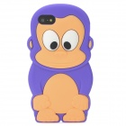 Cute 3D Monkey Style Protective Silicone Case for Iphone 5 - Dark Purple