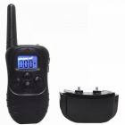 "PD518 0.9"" LCD 5-Mode 400m Remote Control Pet Dog Bark Stop Training Aid w/ Collar - Black"