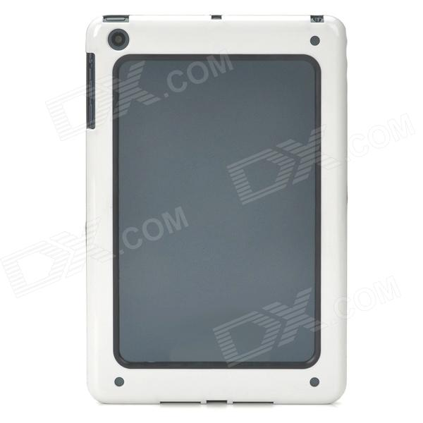 Stylish Protective Bumper Frame for Ipad MINI - White + Black