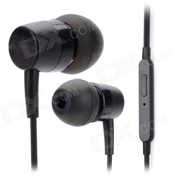 Universal In-Ear Earphone w/ Microphone for Iphone / Samsung / HTC / Nokia + More - Black (3.5mm) 3 5mm jack in ear earphone w microphone for iphone 4 4s ipad samsung more black white