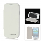 Notfall 2500mAh Power Akku Charger Case w / PU Front Cover für Samsung Galaxy S3 i9300 - White