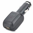 LSON USB Car Cigarette Lighting Plug Power Adapter Charger - Black (DC 12~24V)