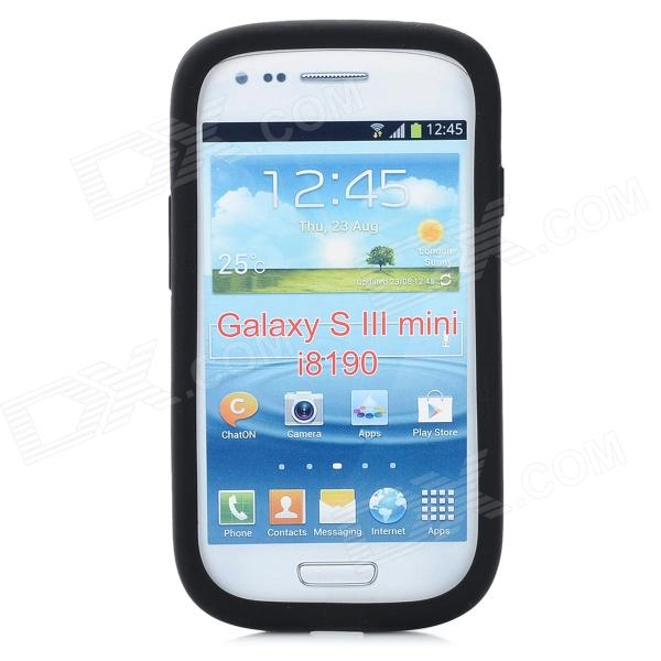 Protective Aluminum + Silicone Back Case for Samsung i8190 - Black от DX.com INT