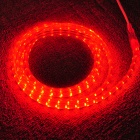 AC Power 4.8W 240lm 635 ~ 680 nm 120-SMD 3528 LED rojo Luz de tira decorativa - Transparente (204cm)