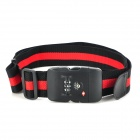JUST LOCK TSA319C 3-Digit PC + Fiber Luggage Combination Strap Lock - Red + Black