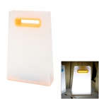 Creative Handbag Style Warm White Light LED USB Rechargeable Table Light - White + Yellow