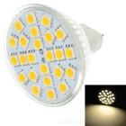 GU5.3 3W 260lm 3500K MR16 24-SMD 5050 LED Warm White Light Lamp Bulb - Silver (12V)