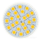 GU5.3 3W 336lm 3500K MR16 24-SMD 5050 LED Warm White Light Lamp Bulb - Silver (12V)