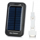 Solar Power 5000mAh Mobile Power Battery w/ Adjustable Output for iPhone 4S + More - Black + Blue