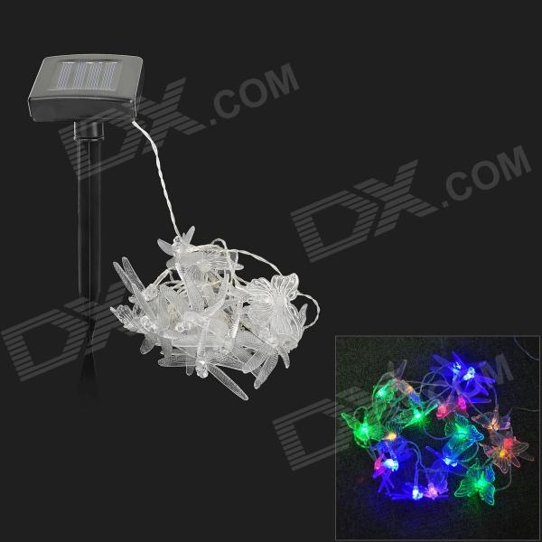 Dragonfly + Butterfly Shaped 16W Solar Powered 20-LED Garden Grassland Decoration String Light