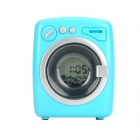 HOMADE HA3002 Creative Mini Washing Machine Style Alarm Desk Clock - Blue