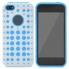 2-in-1 Detachable Protective Back Case for Iphone 5 - Blue + White