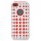 2-in-1 Detachable Protective Back Case for Iphone 5 - White + Red