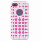 2-in-1 Detachable Protective Back Case for Iphone 5 - Deep Pink + White