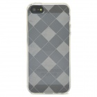 Stylish Checked Style Protective Back Case for Iphone 5 - Translucent White