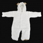 Cute Rabbit Style Polar Fleece Conjoined Garment for Baby - White