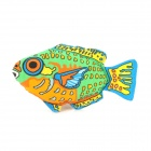 00069 Fish Shape Catnip Chew Toy for Cat - Multicolored 
